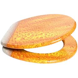 WC-Sitz »Bier«, mit Absenkautomatik, 27507839-0 gelb 37.5 cm gelb