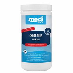 mediPOOL Chlor PLUS-Desinfektion 1kg Chlortabletten Schnellchlorung Poolreiniger