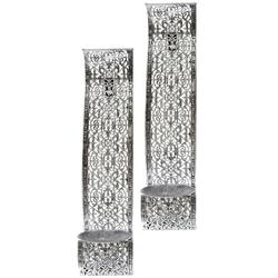 elbmöbel Wandkerzenhalter Wandkerzenhalter 2 er Set Metall gebogen, Wandkerzenhalter: 2er Set 9x38x12 cm orientalisches muster metall