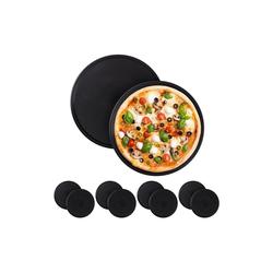 relaxdays Pizzablech 10 x Pizzablech rund, Stahl