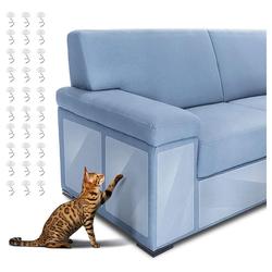 kueatily Aufkleber 6 Stück Katzen Kratzschutz, Kratzschutz Couch Möbelschutz Kratzschutz für Katze Hund mit Transparente Kratzschutz Krallenabwehr für Ihre Möbel, Sofa, Tür (2 Größen: 14*48cm/30*45cm)