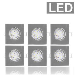 etc-shop LED Einbaustrahler, LED Einbaustrahler Decken Spot Leuchte Strahler Lampe Beleuchtung Aktzent-Licht IP23 ALU