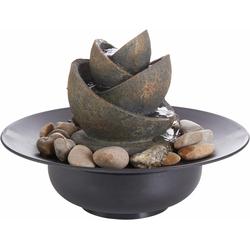 Zimmerbrunnen »Flower«, mit Steinen, Dekoratives, 848014-0 grau grau