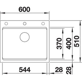 Blanco Etagon 6 alumetallic + Excenterbetätigung + InFino