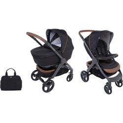 Chicco Kombi-Kinderwagen Duo Stylego Up Crossover, Pure Black, ; Kinderwagen