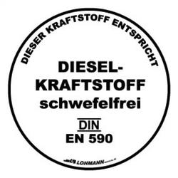 Diesel Kraftstoff schwefelfrei-Aufkleber