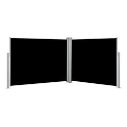 vidaXL Sonnenschirm vidaXL Ausziehbare Seitenmarkise Schwarz 170 x 1000 cm