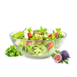 Sendez Salatschüssel Große Salatschale 2L Salatschüssel Servierschale Schüssel Schale Glasschale