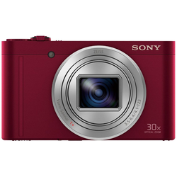 Sony Cyber-Shot DSC-WX500 Superzoom-Kamera (18,2 MP, 30x opt. Zoom, WLAN (Wi-Fi), NFC, 30 fach optischer Zoom) rot