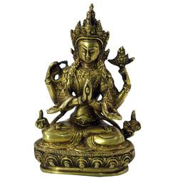 Guru-Shop Dekofigur Messingfigur, Statue Laxmi 20 cm - Motiv 6