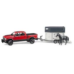 Bruder - RAM 2500 Power Wagon mit Pferdeanhänger und 1 Pferd