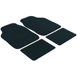 WALSER Autoteppich Velours, 4-tlg., schwarz schwarz