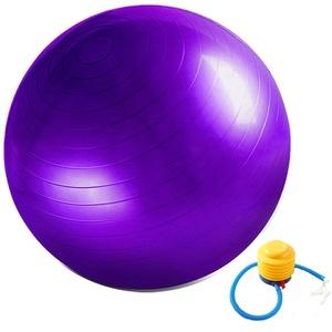 Gymnastikball Fitnessball Sitzball Sportball Anti-Burst inkl Ballpumpe Dicker Robuster 300kg Belastbarkeit Sportball Balance Pilates Yoga Ball für Büro Zuhause Gym 55cm-75cm Ball Yogaball (55cm, lila)
