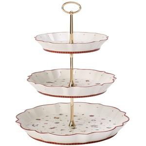 Villeroy und Boch Toy's Delight Etagere, Premium Porzellan, Weiß/Rot