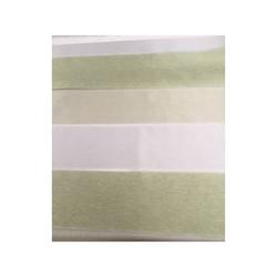 Deko Stoff Gardine Streifen weiß beige grün teiltransp., Reststück 4,2 m