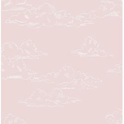 Art for the home Vliestapete Vintage Wolken, (1 St), Rosa - 10mx53cm