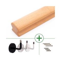 Holzhandlauf Buche omega 50 x 55 mm, bis 595 cm Länge nach Maß