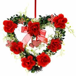 Kunstpflanze Herz Rosen 25/26 cm Rosen, Höhe 27 cm rot