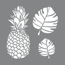 Rayher Dekor-Schablonen Tropical grau