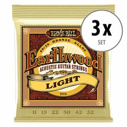 3er Set Ernie Ball 2004 Earthwood 80/20 Light