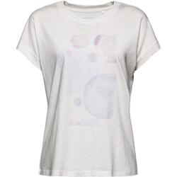 Esprit Kurzarmshirt mit ästhetischem Print vorne weiß S