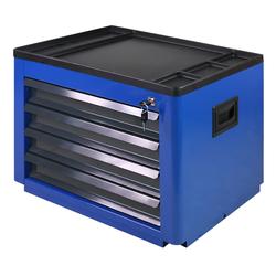 ADB Metall-Werkzeugtruhe 4 Schubladen blau Basic 450x600x440 mm