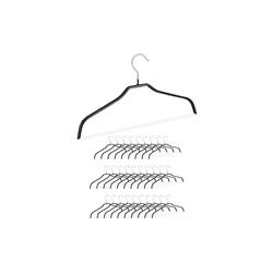 relaxdays Kleiderbügel Rutschfeste Kleiderbügel Set schwarz