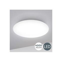 B.K.Licht LED Deckenleuchte Leonis, LED Deckenlampe 28cm 12W Wohnzimmer Design-Lampe Leuchte Weiß