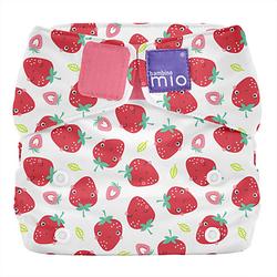 Stoffwindel Miosolo All-in-One - Erfrischende Erdbeere rot