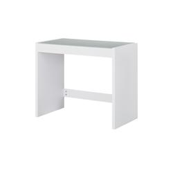 Schreibtisch mit Glasplatte  Demer ¦ weiß ¦ Maße (cm): B: 90 H: 75 T: 48