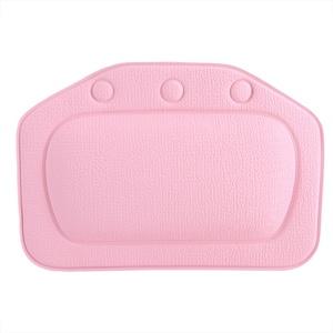 Fdit PVC Schwamm Badewannenkissen Kissen Badekurort Kopfstütz Bad Kopf Kissen Hals Rückseite Kissen für Badezimmer(Rosa)