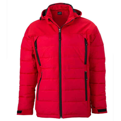 Wintersportjacke | James & Nicholson rot XL