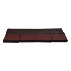 Onduline Dachschindeln Bitumenschindeln Dachschindeln Rechteck Schindel Dachpappe Bitumen rot gefl. 3,05 m², Rechteck, 3.05 m² pro Paket, (21-St)