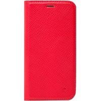 Beyzacases Handgefertigt aus pflanzlich gegerbtem Leder Duke Folio Case für iPhone X rot