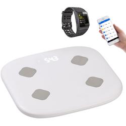 Fitness-Sportuhr mit GPS, Puls & WLAN-Personenwaage mit Körperanalyse
