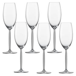 SCHOTT ZWIESEL Serie DIVA Champagnerkelch 6 Stück Inhalt 293 ml Champagner