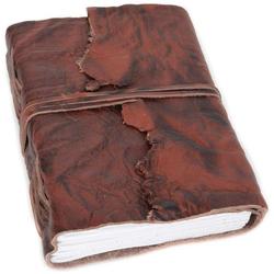 Gusti Leder Notizbuch Jenna, Buch Lederbuch Notizbuch B6 braun Leder