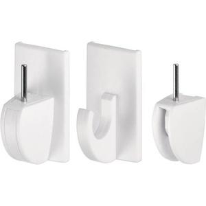 TESA 58034-07-01 Powerstrips® Vario Gardinenhaken Weiß Inhalt: 4St.