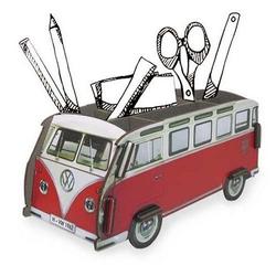 WERKHAUS® Schreibtischaufsatz Werkhaus Stifteköcher VW Bus Bulli Rot T1 WE2008