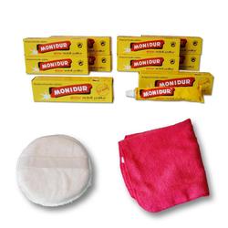 Autowaschbürste Poliermittel Politur Metall Chrom Schutz, Monidur, (12-tlg)