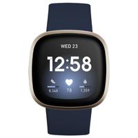Fitbit Versa 3 nachtblau/aluminium softgold