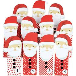 Adventskalender Tüten groß gestanzt - Weihnachtsmann - Rot rot