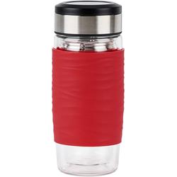 Emsa Teeglas Tea Mug (3-tlg), 400 ml, 100% dicht rot