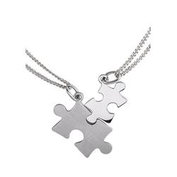 Firetti Kette und Anhänger Set Partner-Puzzle (4-tlg)