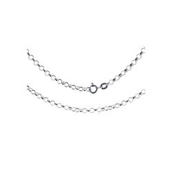Bella Carina Silberkette Silberkette Gliederkette rund 1,8 mm 925 Silber, Gliederkette rund 1,8 mm 80 cm