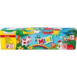 Eberhard Faber Knete Mini Kids Spielknete Basisfarben, 4 x 140 g