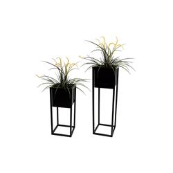 Wohaga Blumenständer 2tlg Blumenständer-Set Metall H70/50cm