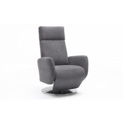 Steinpol Sit&More Fernsehsessel Kobra in grau, Sitzhöhe 49 cm
