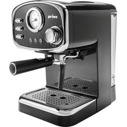 Prinz PZ-EM1 Espressomaschine mit Siebträger Schwarz, Chrom 1100W