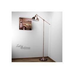 Licht-Erlebnisse Stehlampe MACBETH LED Stehlampe Kupfer Antik vintage Wohnzimmer Esszimmer Lampe